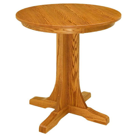 Single Pedestal Mission Pub Table - Amish Tables  - 1