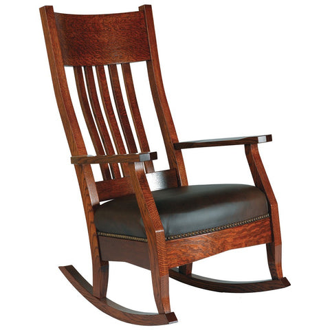 Mission Rocking Chair - Amish Tables  - 1