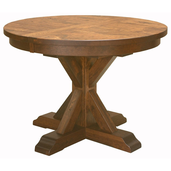 Alberta Single Pedestal Extension Table - Amish Tables  - 1