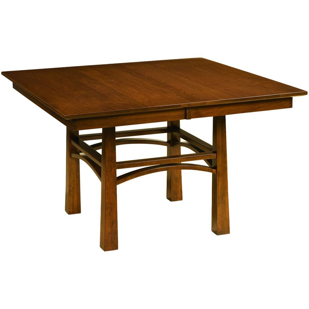 Amish Made Dining Room Tables: Artesa Single Pedestal Extension Dining Table