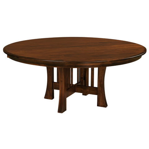 Arts & Crafts Single Pedestal Extension Table - Amish Tables  - 1