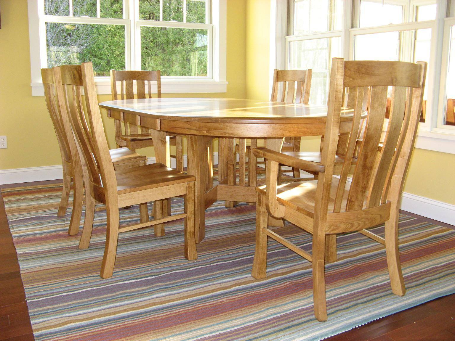 Arts & Crafts Pedestal Extension Table | Amish Tables