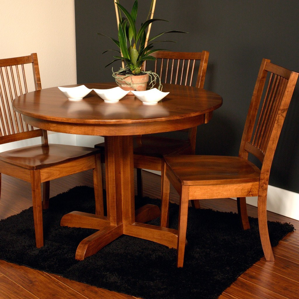 Austin Dining Table Amish Single Pedestal Extension