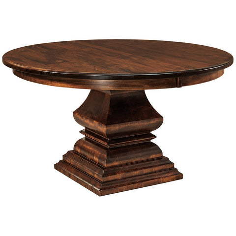 Bradford Single Pedestal Extension Table - Amish Tables  - 1
