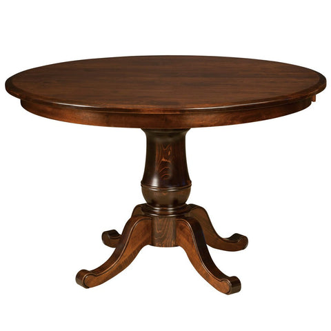 Chancellor Single Pedestal Extension Table - Amish Tables  - 1