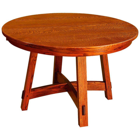Colbran Single Pedestal Extension Table - Amish Tables  - 1
