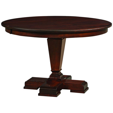 Fulton Single Pedestal Extension Table - Amish Tables  - 1