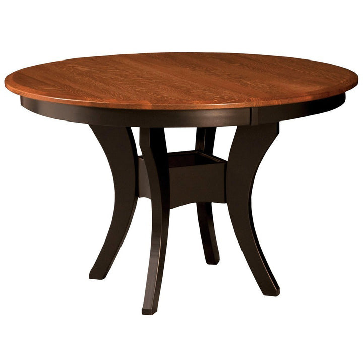 Imperial Single Pedestal Extension Table - Amish Tables  - 1