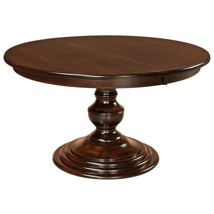 Kingsley Single Pedestal Extension Table - Amish Tables  - 1