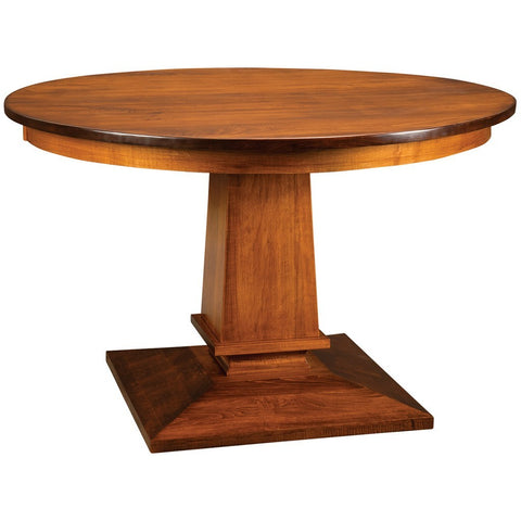 New England Single Pedestal Extension Table - Amish Tables  - 1