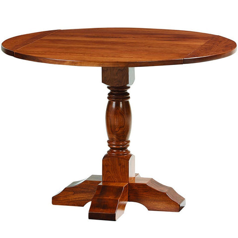 Powell Single Pedestal Drop Leaf Table - Amish Tables  - 1