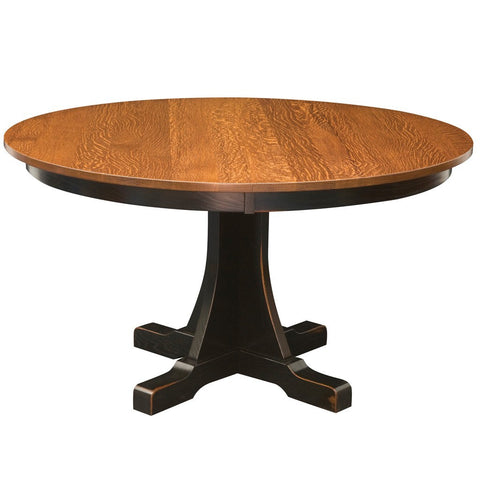 Ridgewood Single Pedestal Extension Table - Amish Tables  - 1