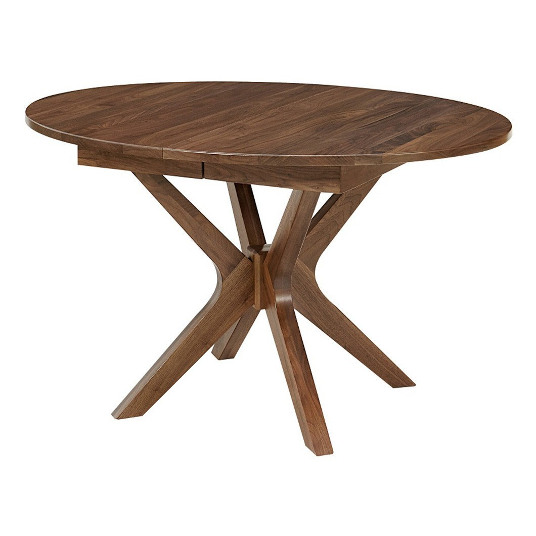 vadsco single pedestal extension table amish tables vadsco single pedestal extension table amish tables 1