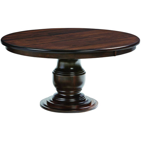 Ziglar Single Pedestal Extension Table - Amish Tables  - 1