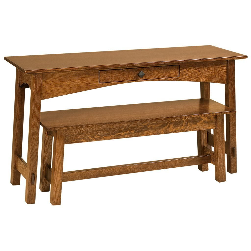 Mccoy sofa table amish solid wood accent tables amish for Sofa table vs console table