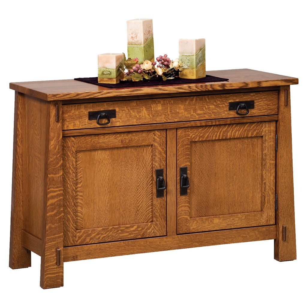 Modesto sofa table amish solid wood accent tables for Sofa table vs console table
