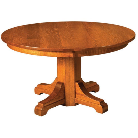 Monteray Split Pedestal Extension Table - Amish Tables  - 1