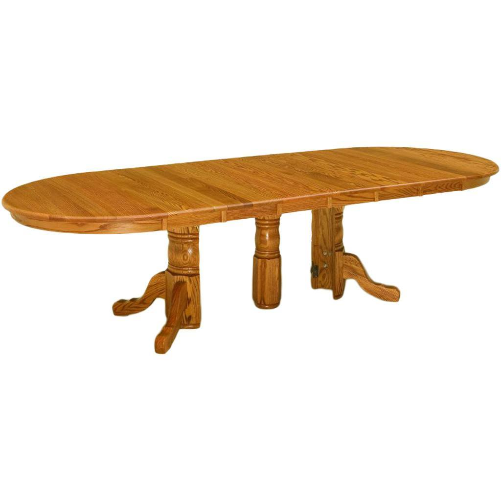 split pedestal extension dining table amish tables