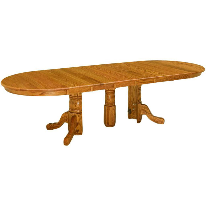 Split Pedestal Extension Table - Amish Tables  - 1