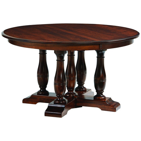 Westfield Split Pedestal Extension Table - Amish Tables  - 1