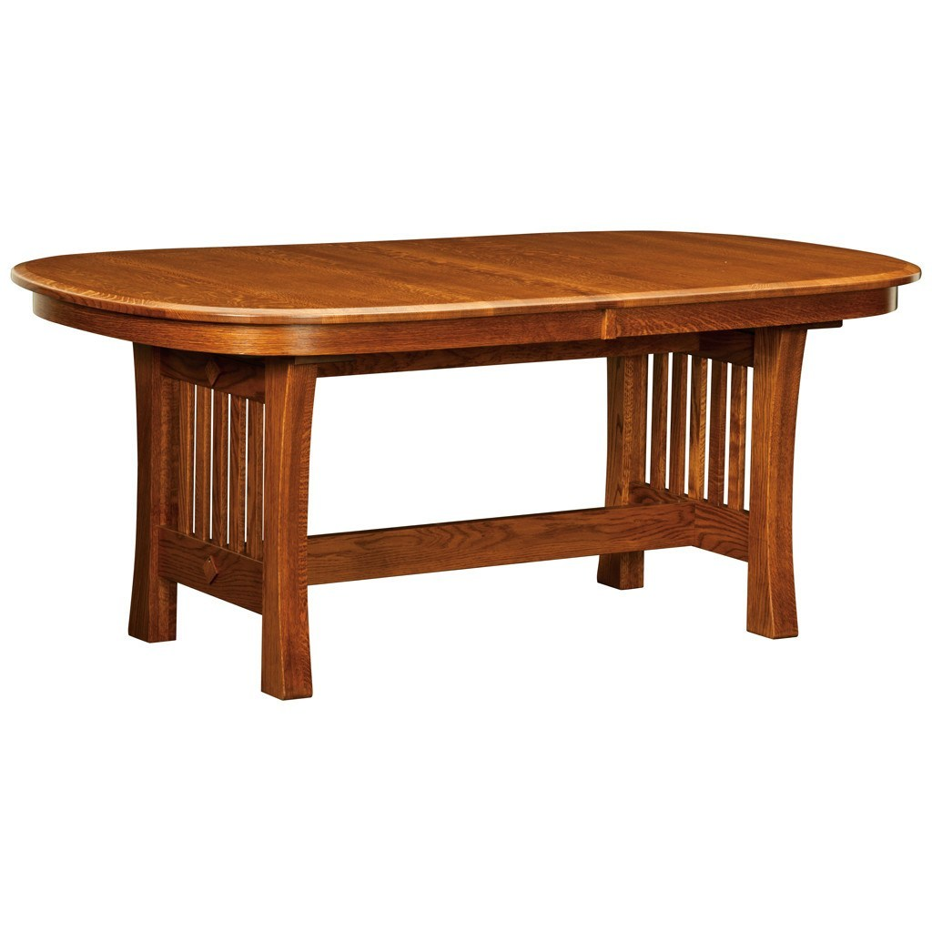 Arts and crafts tables - Arts And Crafts Trestle Extension Table Amish Tables 1