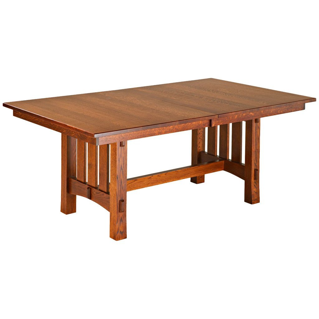 aspen trestle extension table handcrafted solid wood furniture   large dining tables   amish tables  rh   amishtables com