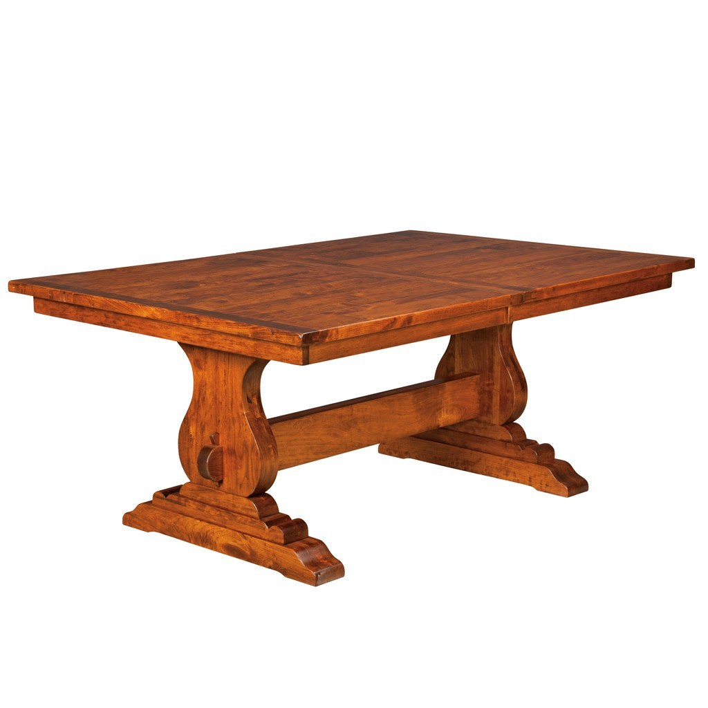 austin trestle extension table amish tables 1 - Dining Room Tables Austin