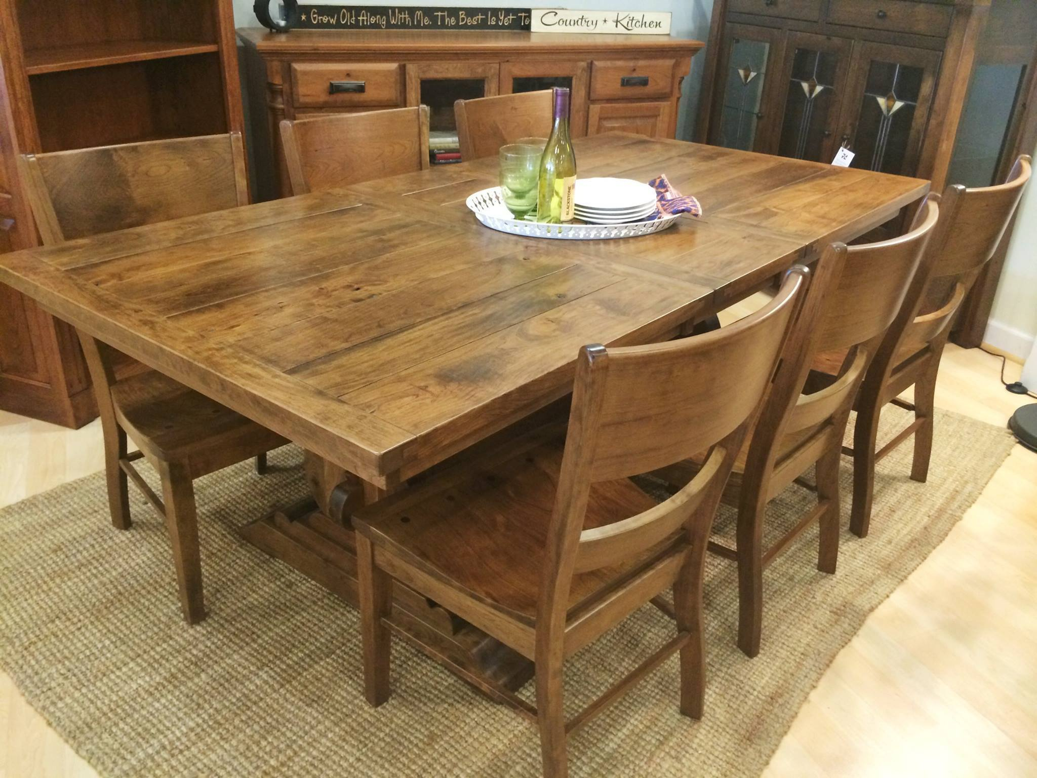 ... Austin Trestle Extension Table   Amish Tables   2 ...