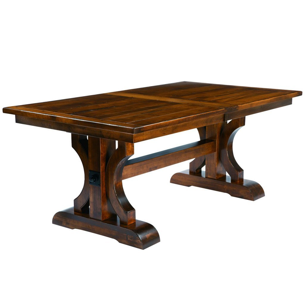 Amish Dining Room Table: Barstow Trestle Extension Table