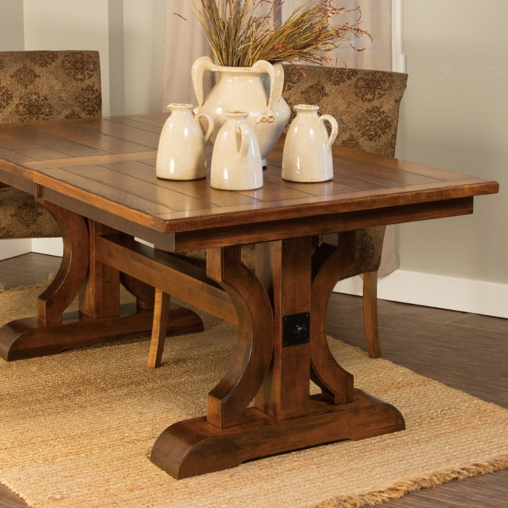 Good ... Barstow Trestle Extension Table   Amish Tables   3 ...