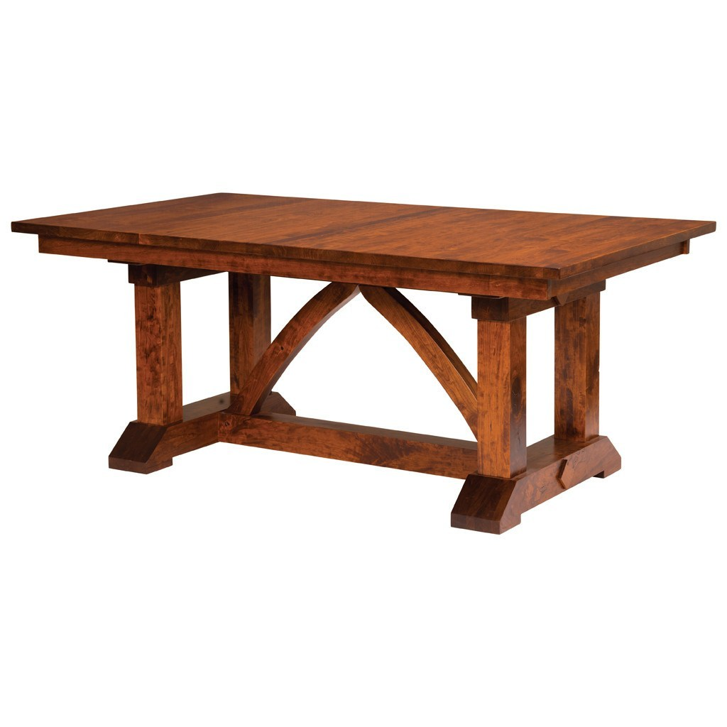 Dining Extension Table Bostonian Trestle Extension Table Amish Dining Tables Amish Tables
