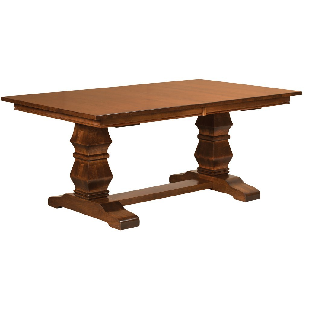 Bradbury Trestle Extension Table   Amish Tables   1 ...