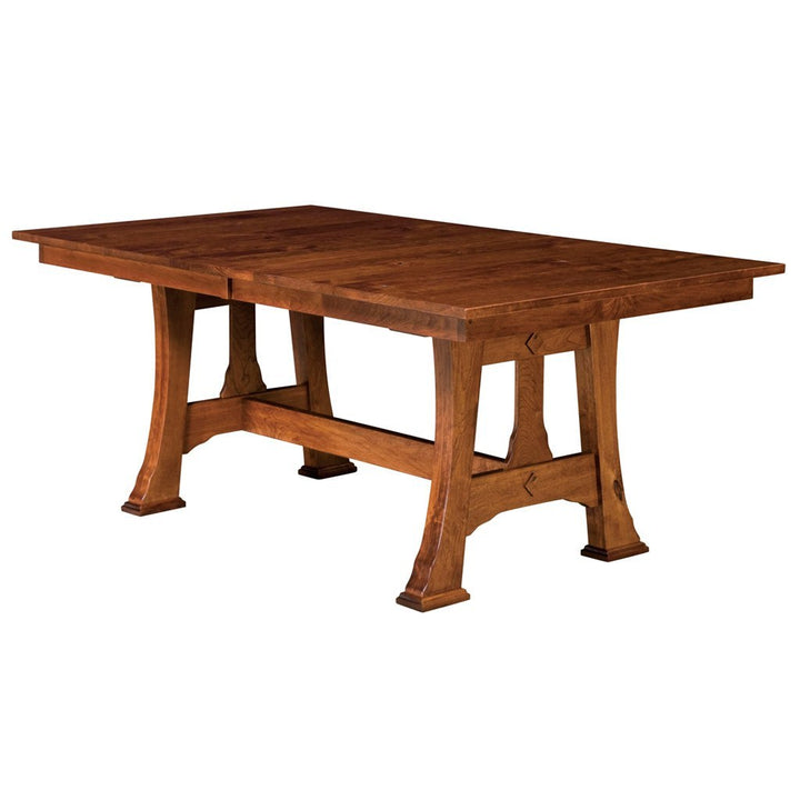 Amish Made Dining Room Tables: Cambridge Extendable Trestle Table