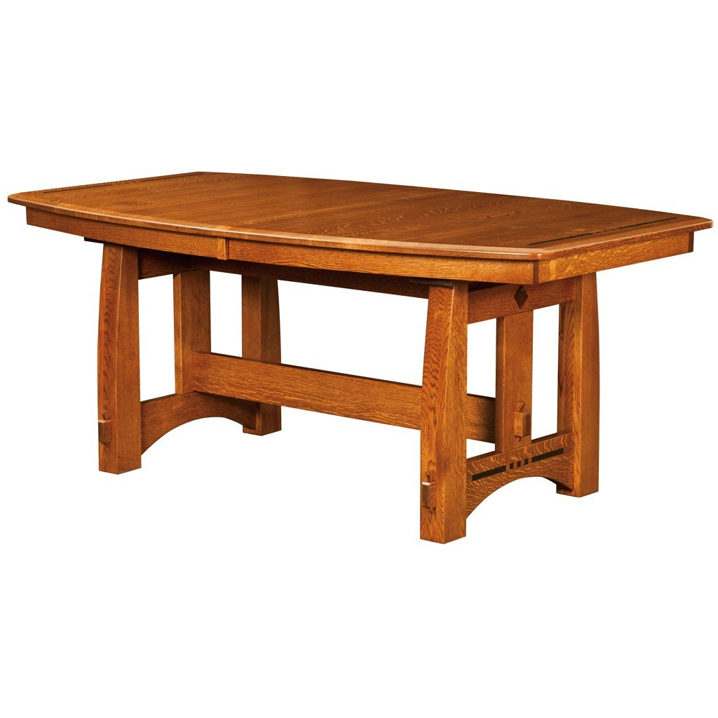 Colebrook Trestle Extension Table Amish Solid Wood