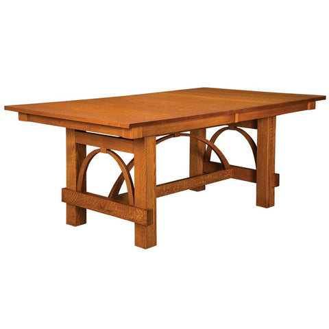 Ellis Trestle Extension Table - Amish Tables  - 1