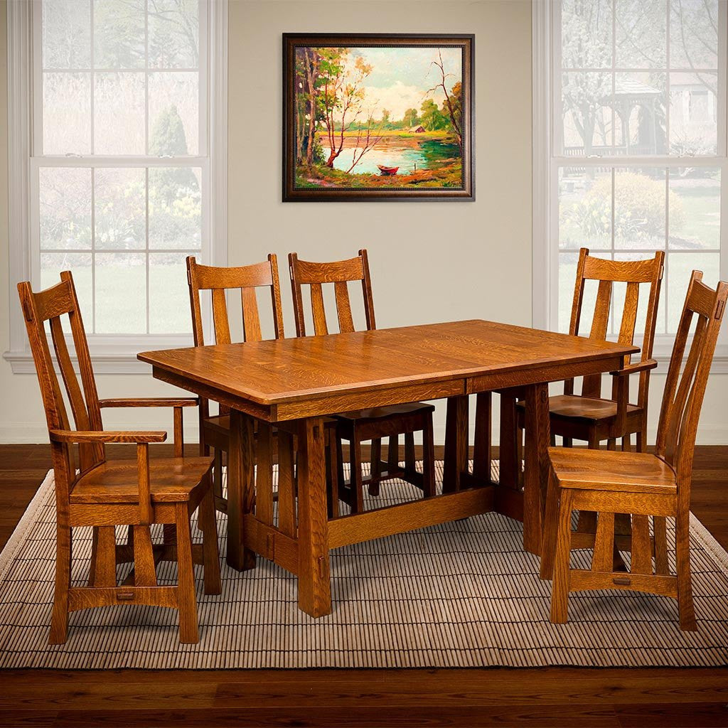 Fremont Trestle Extension Table Amish Dining Tables