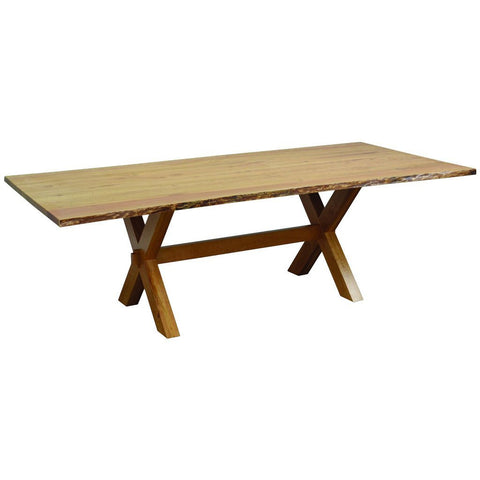 Frontier Trestle Live Edge Table - Amish Tables  - 1