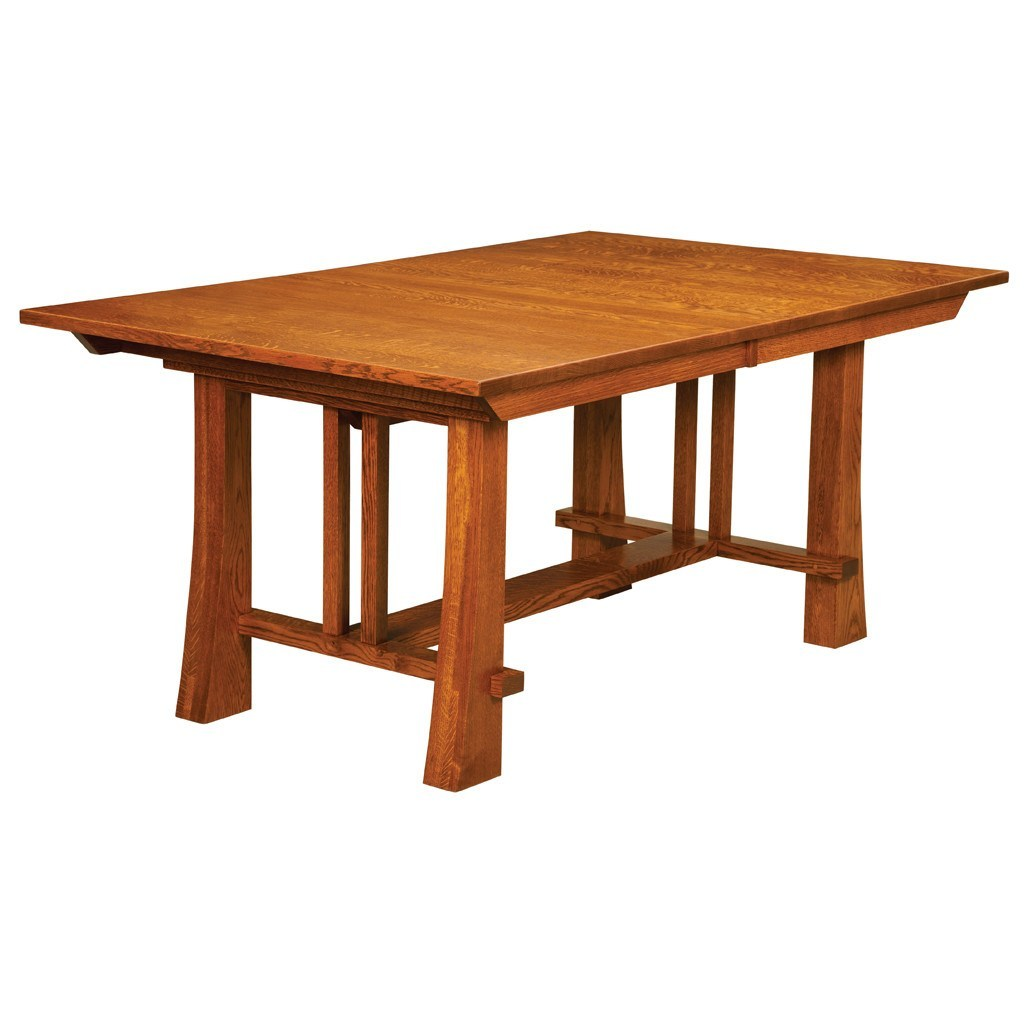 Amish Dining Room Table: Grant Trestle Extension Table
