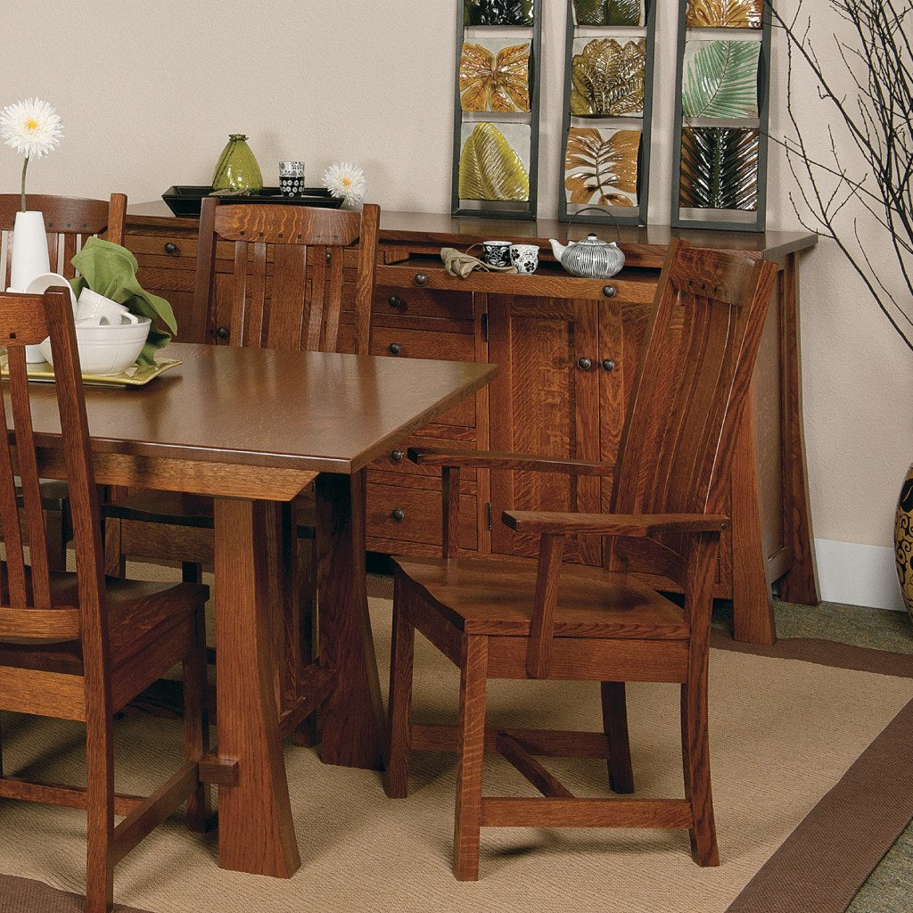 Grant Trestle Extension Table Amish Solid Wood Tables