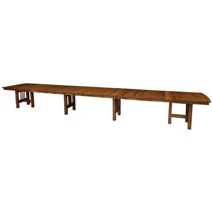The Hartford Extendable Dining Table Seats 12 Up To 20 People Amish Tables