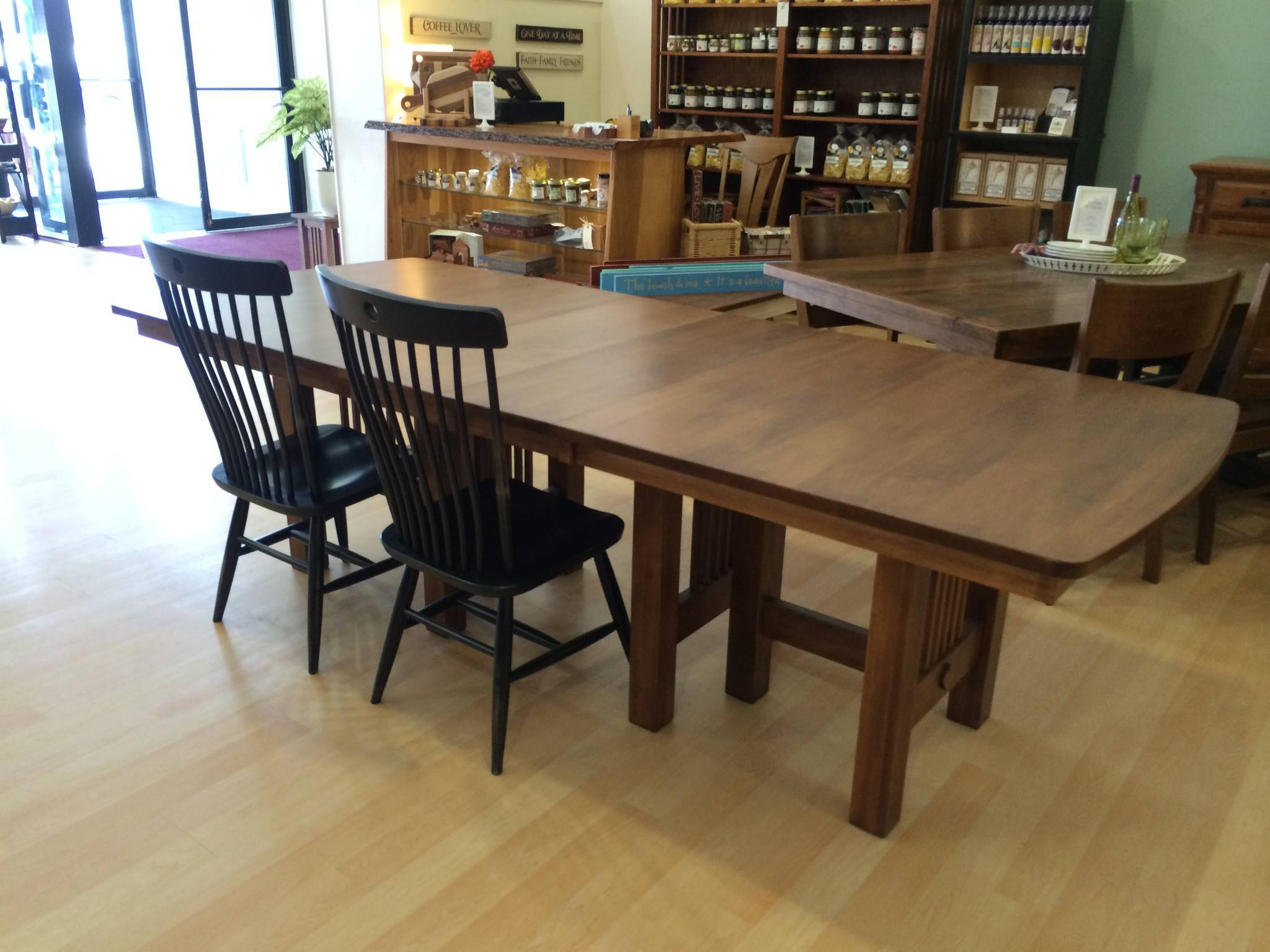 hartford trestle extension table amish dining tables amish tables hartford trestle extension table amish tables 5