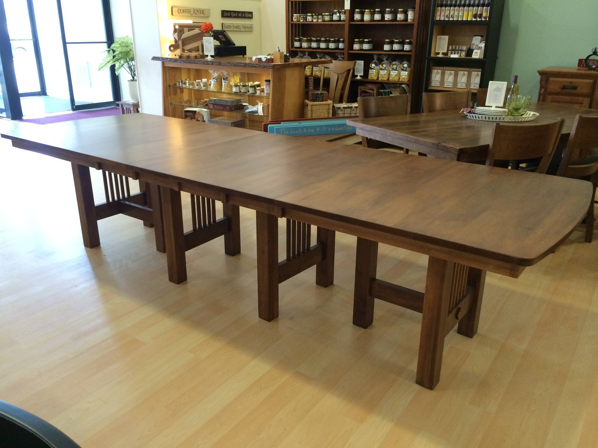 Dining Extension Table Hartford Trestle Extension Table Amish Dining Tables Amish Tables