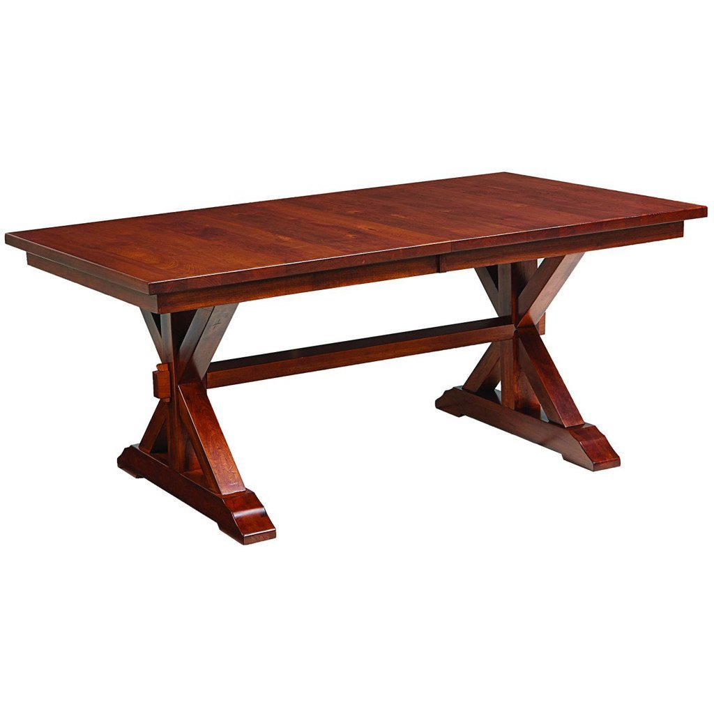 Lebanon Trestle Extension Table | Amish Solid Wood Tables – Amish ...