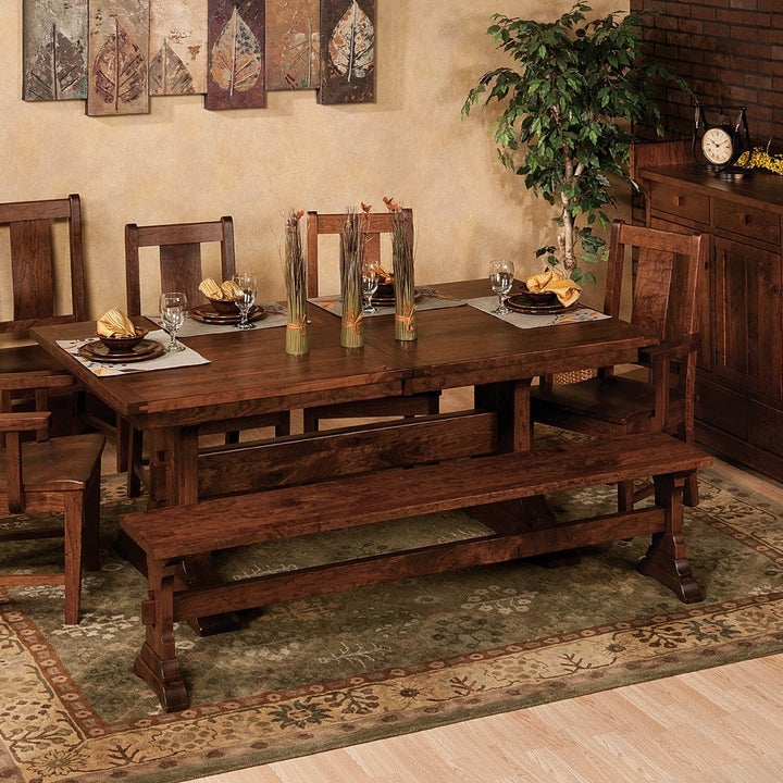 Manchester Trestle Extension Table Amish Solid Wood