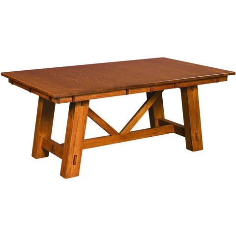 Manitoba Trestle Extension Table - Amish Tables  - 1