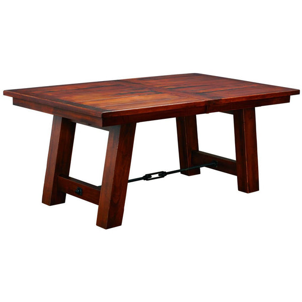 Ouray Trestle Extension Table Amish Solid Wood Tables Amish Tables - Double trestle dining table