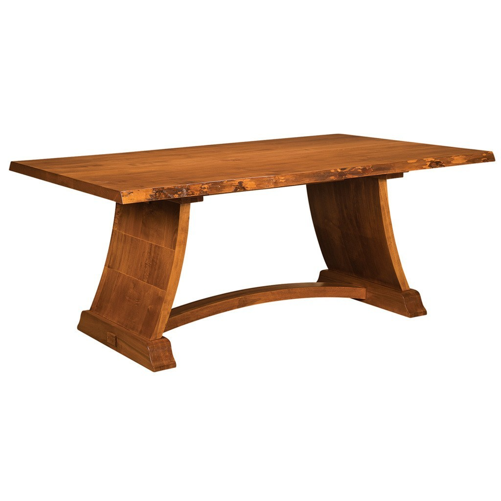 Tahoe Trestle Live Edge Table Amish Solid Wood Tables