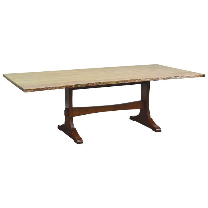 Wasilla Trestle Live Edge Table - Amish Tables  - 1