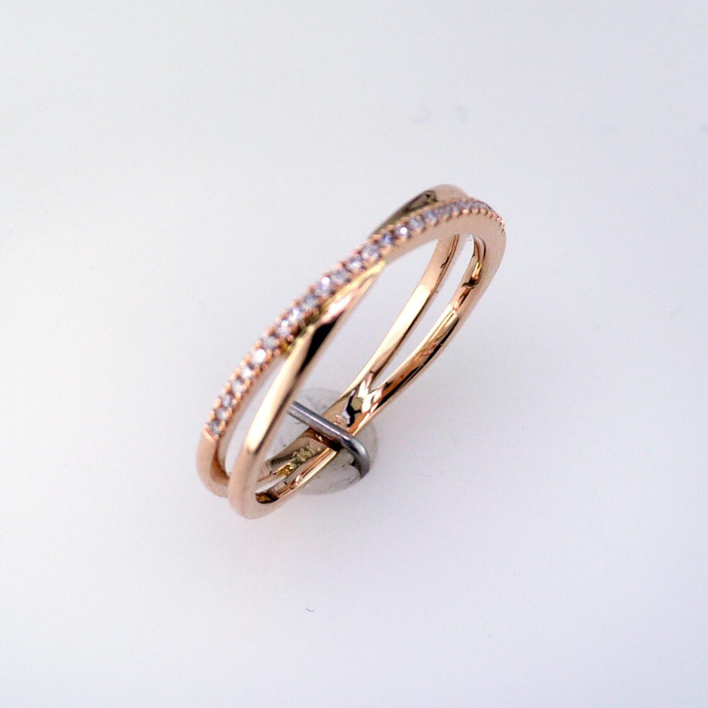 14 Karat Rose Gold Diamond Ring