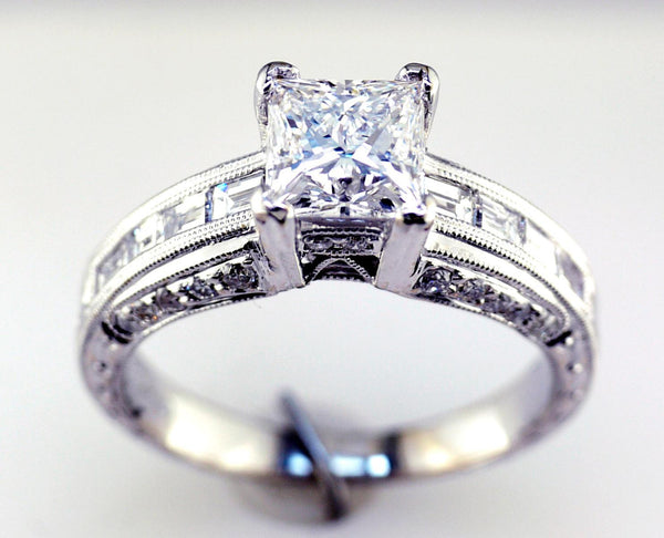 18 Karat White Gold Engagement Ring